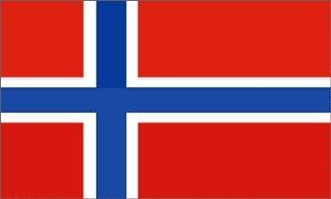Billede af Dannebrog Satin Bordflag (15x22,5cm)