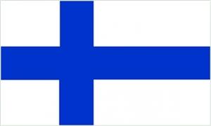 Billede af Finland Deluxe Flag (90x150cm)