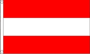 Østrig Deluxe Flag (90x150cm)