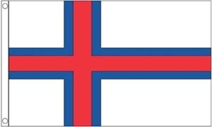 Billede af Færøerne Deluxe Flag (90x150cm)