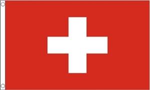 Billede af Schweiz Deluxe Flag (90x150cm)