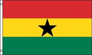 Billede af Ghana Flag (90x150cm)