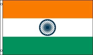 Billede af Indien Flag (90x150cm)