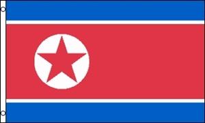 Billede af Korea, Nord Flag (90x150cm)