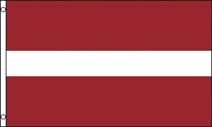 Billede af Letland Deluxe Flag (90x150cm)