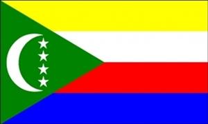 Billede af Comorerne Flag (90x150cm)