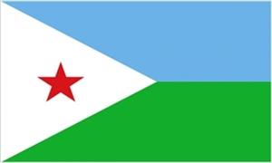 Billede af Djibouti Flag (90x150cm)