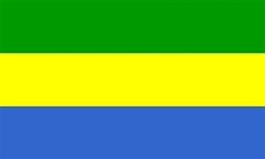 Billede af Gabon Flag (90x150cm)