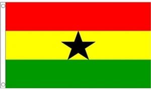 Billede af Ghana Flag (60x90cm)