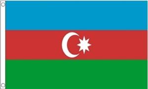 Billede af Aserbajdsjan Flag (60x90cm)