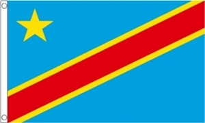 Billede af Demokratiske Republik Congo Flag (60x90cm)