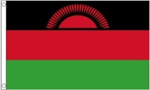 Billede af Malawi Flag - Rød Sol Flag (60x90cm)
