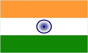 Billede af Indien Flag (150x240cm)