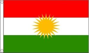 Billede af Kurdistan Flag (150x240cm)