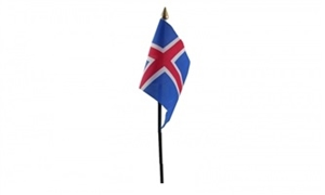Billede af Island Bordflag (10x15cm)