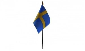 Sverige Bordflag (10x15cm)