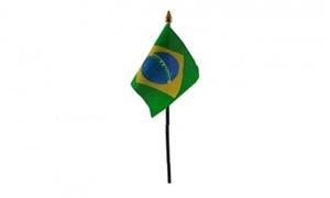 Billede af Brasilien Bordflag (10x15cm)
