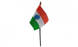 Billede af Indien Bordflag (10x15cm)