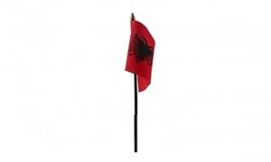 Image of   Albanien Bordflag (10x15cm)