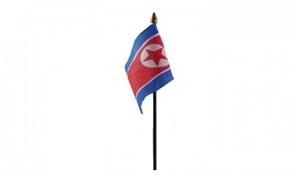 Billede af Korea, Nord Bordflag (10x15cm)