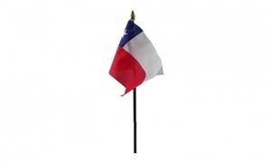 Billede af Chile Bordflag (10x15cm)