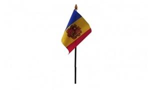 Billede af Andorra Bordflag (10x15cm)