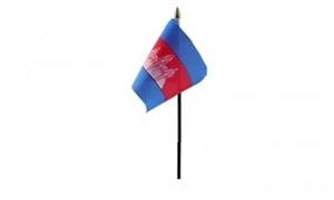 Billede af Cambodja Bordflag (10x15cm)