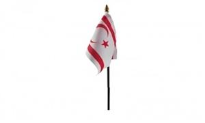 Billede af Cypern Nord Bordflag (10x15cm)