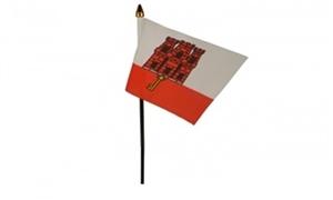 Billede af Gibraltar Bordflag (10x15cm)