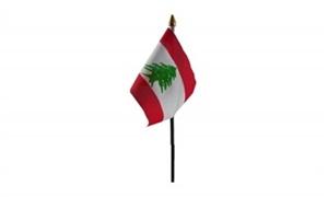 Billede af Libanon Bordflag (10x15cm)
