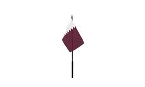 Qatar Bordflag (10x15cm)
