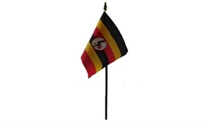 Uganda Bordflag (10x15cm)