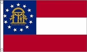 Billede af Georgia Flag (90x150cm)