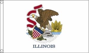 Billede af Illinois Flag (90x150cm)