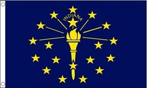 Billede af Indiana Flag (90x150cm)
