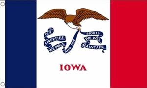 Billede af Iowa Flag (90x150cm)