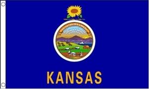 Billede af Kansas Flag (90x150cm)