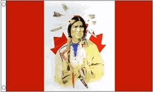 Billede af Canada with Indian Flag (90x150cm)