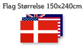 Flag Størrelse 150x240cm