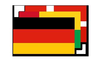 Nationale Satin Flag 15x22cm