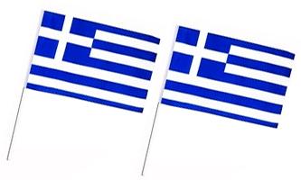Håndholdte Papirflag 100x130mm (A6)