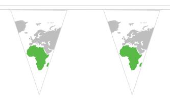 Afrika Triangle Guirlander 5m