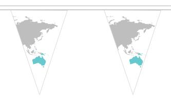 Oceanien Triangle Guirlander 20m