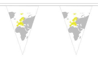Europa Triangle Guirlander 5m