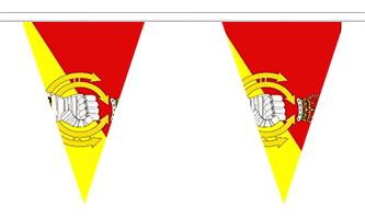 Historie og Militær Triangle Guirlander 20m