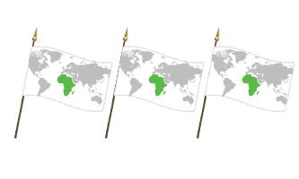Afrika Håndflag 15x22cm