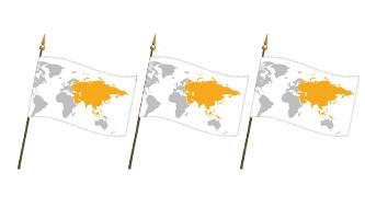 Asien Håndflag 30x45cm
