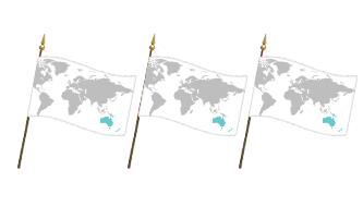 Oceanien Håndflag 10x15cm