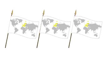 Europa Håndflag 30x45cm