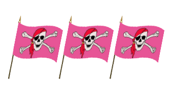 Pirat Håndflag 10x15cm